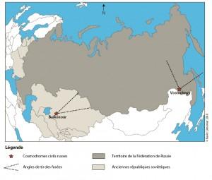 Les cosmodromes civils de la Fédération de Russie (Kevin Limonnier, 2010).